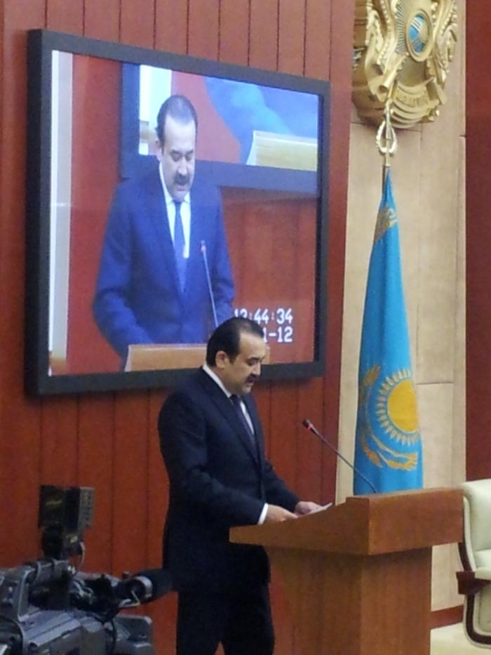 Карим Масимов на заседании Мажилиса Парламента РК