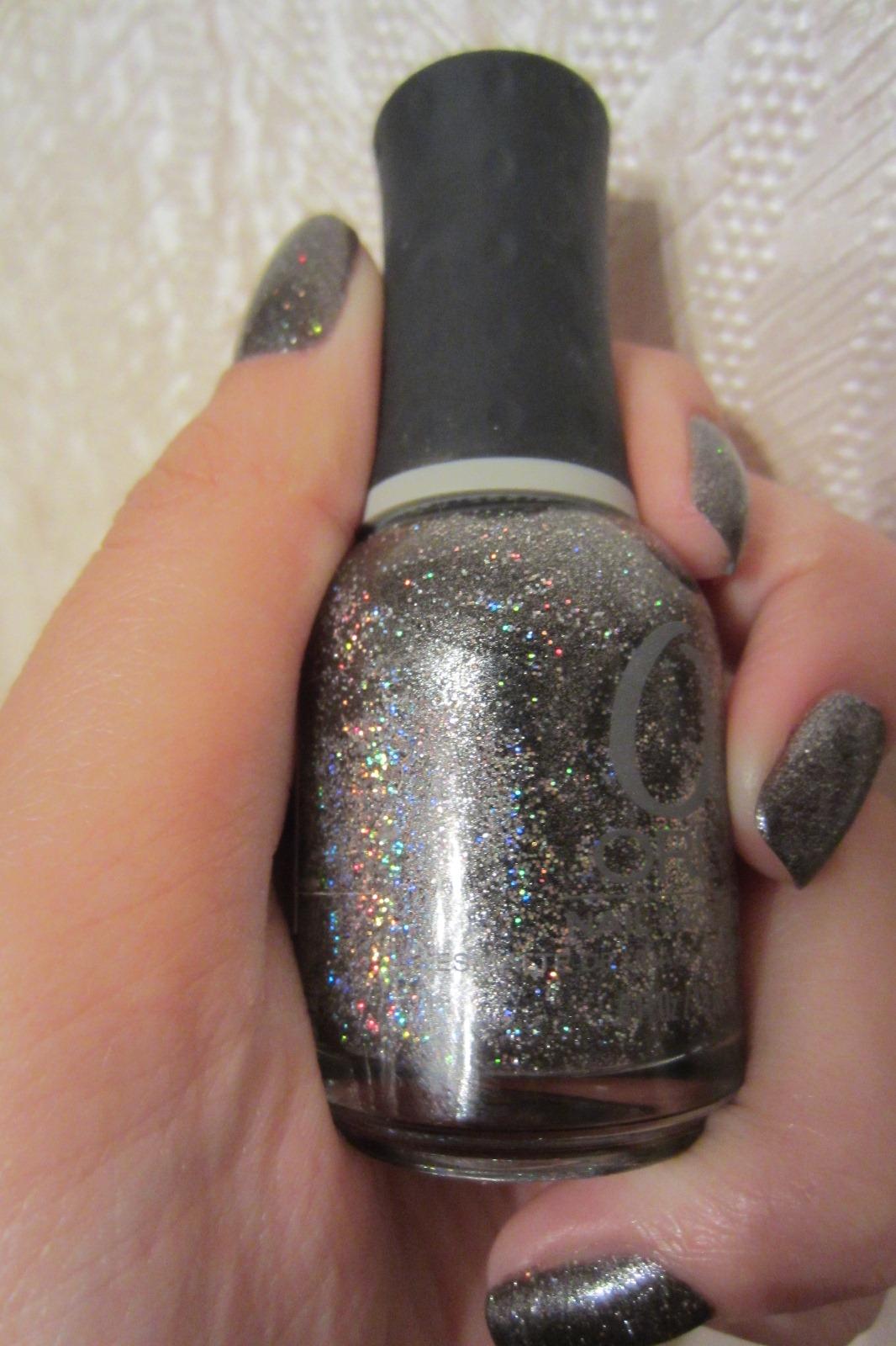 Искрящийся графит на ногтях или Orly Rock Solid